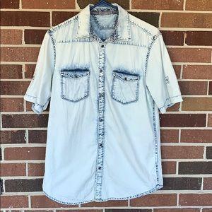 Calvin Klein stonewash denim shirt